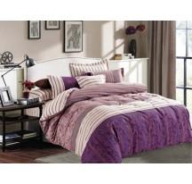 Violetta szatén ágynemű