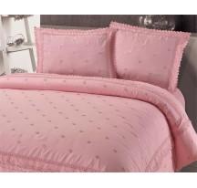 Hímzett pink exkluzív ágynemű