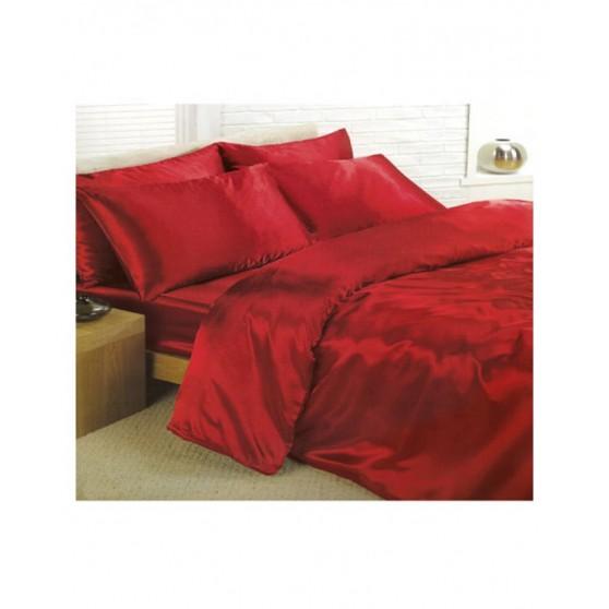 Piros szatén Ágynemű