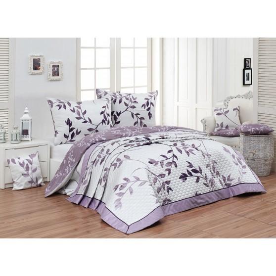 Lila virágos Luxus Ágytakaró