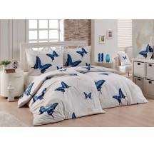 Kék pillangós ágynemű