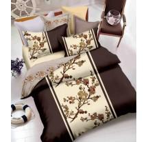 Barna virágos ágynemű Ágynemű