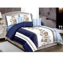 Kék virágos ágynemű Ágynemű