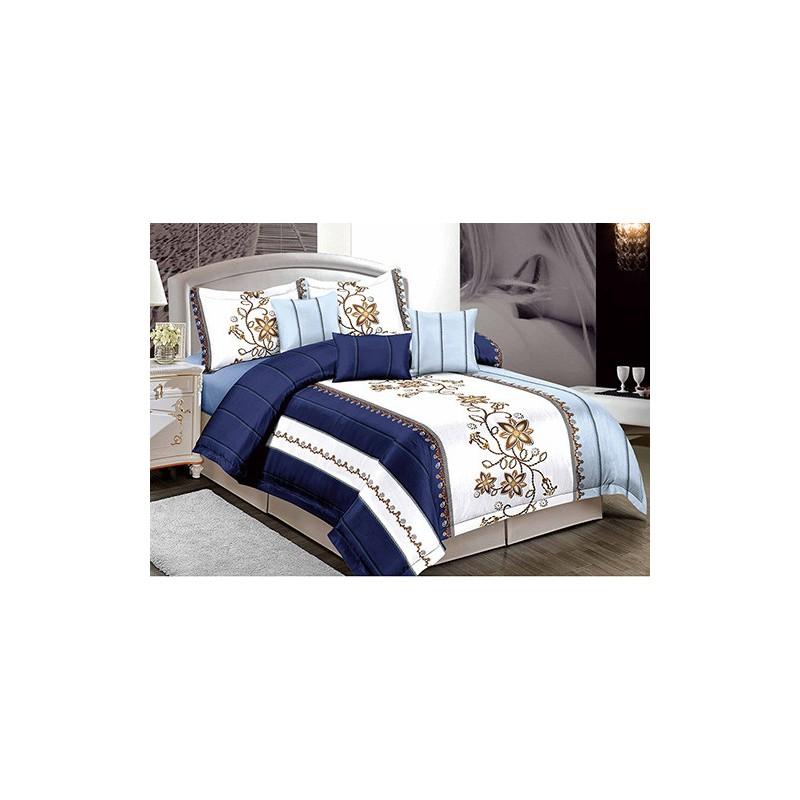 Kék virágos Ágynemű - Luxustextil Webshop 834affc11b