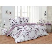 Lila levelek Luxus ágynemű