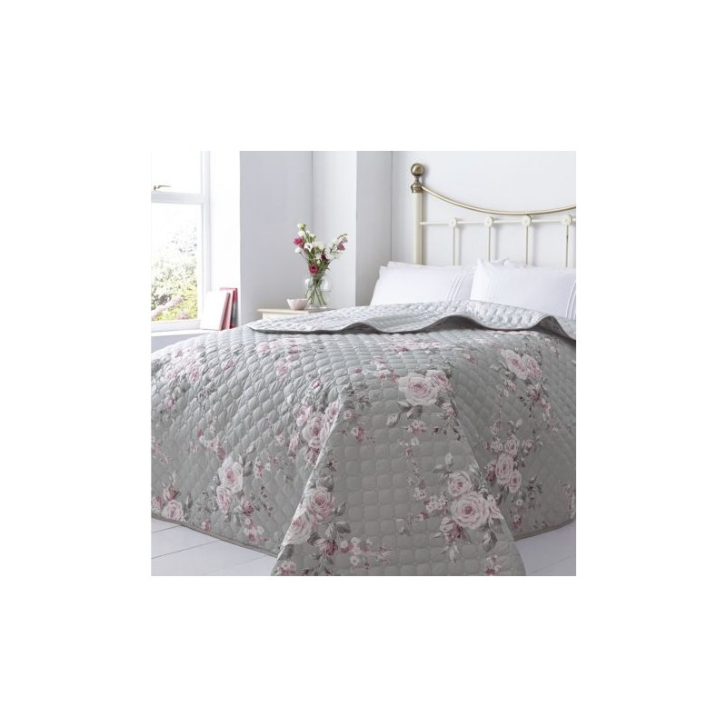 Szürke virágos Ágytakaró - Luxustextil Webshop 56d9e180c9