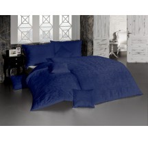 Sötétkék luxus ágynemű