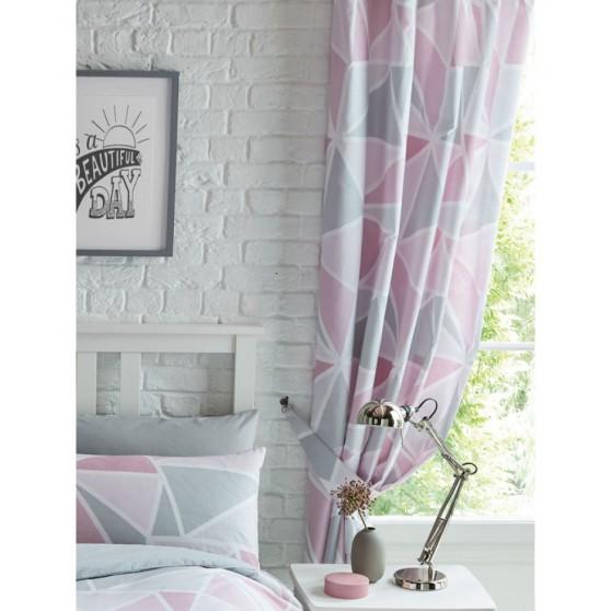 Pink Geometriai Függöny