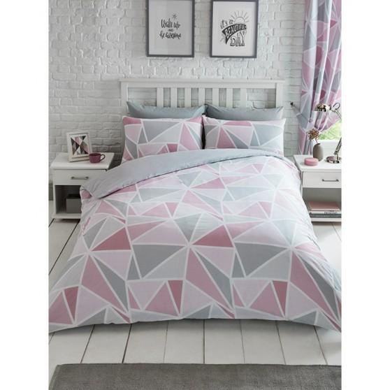 Pink Geometriai Ágynemű