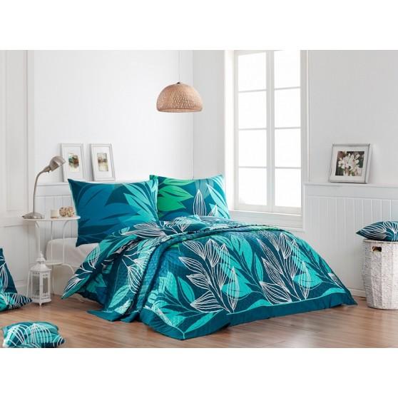 kék levelek Luxus Ágytakaró