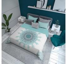 Kék mintás modern Ágytakaró