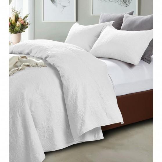 Carla fehér Luxus Ágytakaró